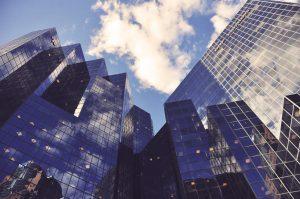 Company-exits-financial-cityscape