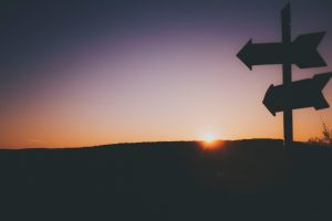 Sunset-and-signposts-exit-strategy